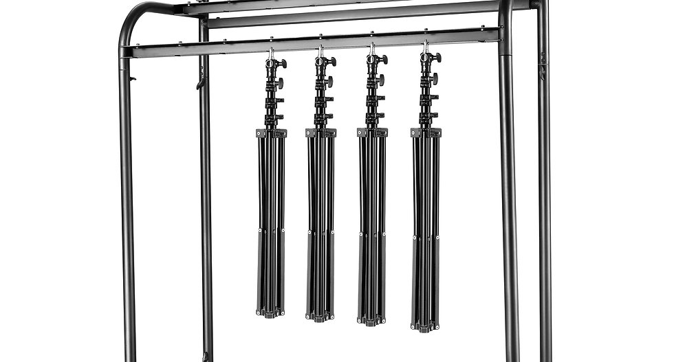 120x105x50cm Stahl Doppelschichten Fotostudio Lichtstative Halter