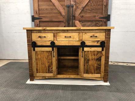 Barn Door Console Table