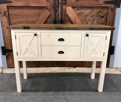 Two Tone Buffet Table