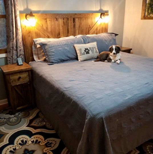 Headboard and Bed Side Tables