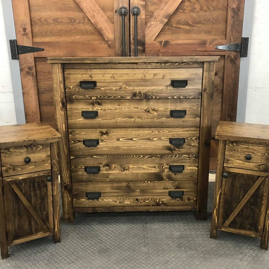 Dresser and Bed Side Tables