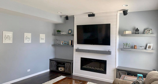 Floating Shelves and Mantle