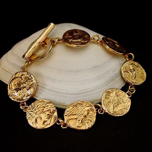 Ancient coins bracelet whole