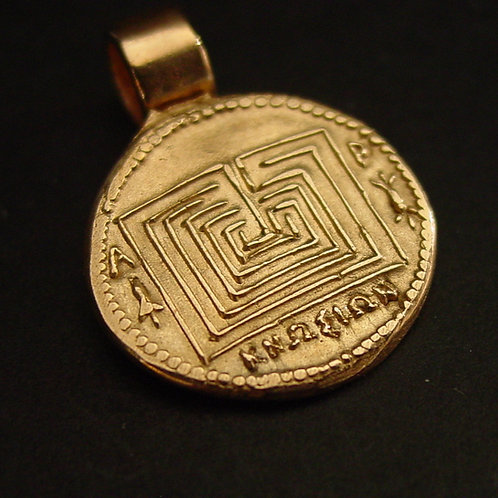 Knossos labyrinth pendant