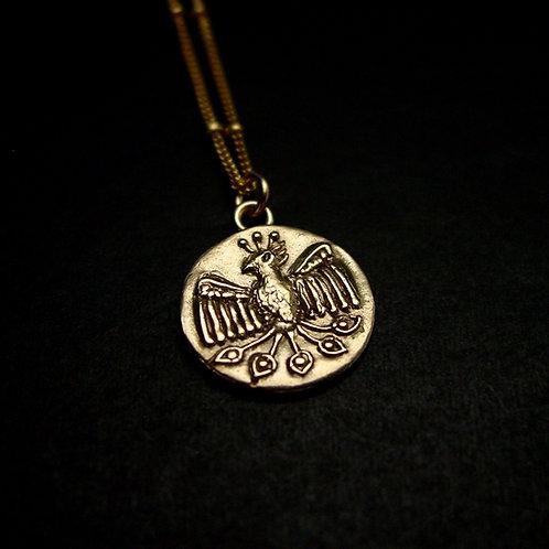 Phoenix coin necklace