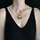 Mother goddess necklace on model