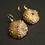 Deep water sea urchin earrings with ruby