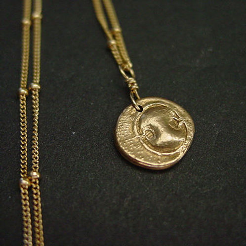 Small Spartan Shield coin - Necklace