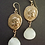 Athena Greek coin earrings with pale stone