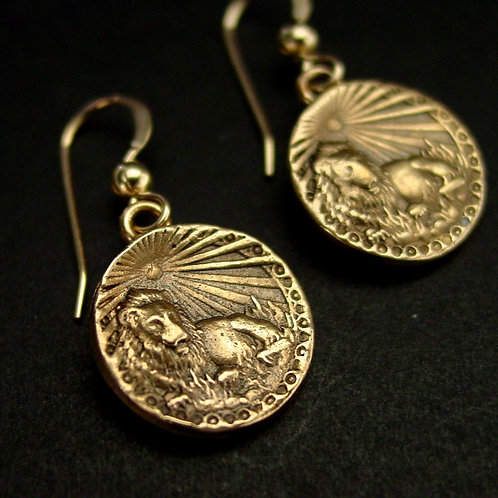 Leon antiqued coin earrings