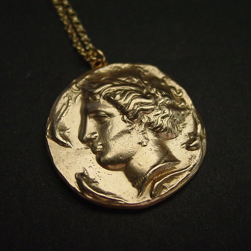 Persephone coin necklace