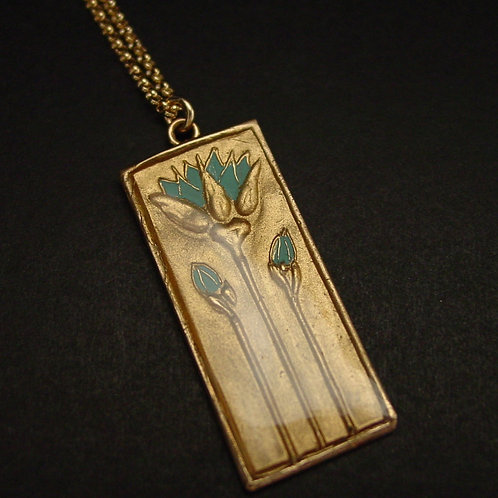 Egyptian Blue Lotus necklace