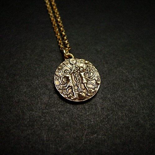 Gemini Antiqued necklace