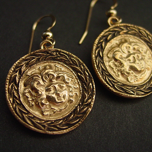Shield of Medusa earrings | Aegis of Athena