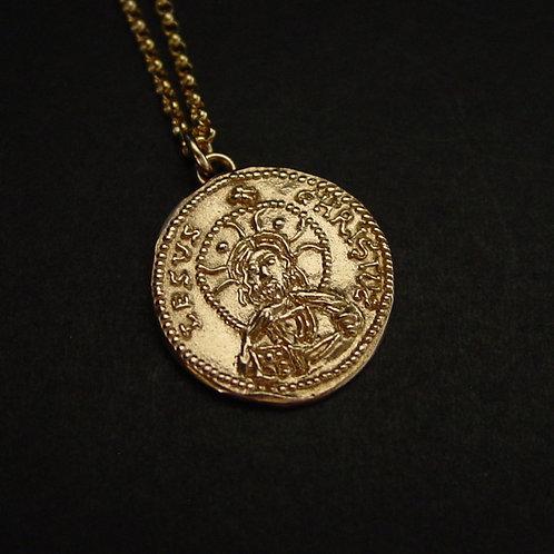 Jesus Christ Byzantine coin necklace