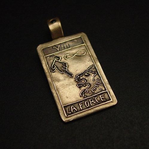 Tarot Card Strength pendant