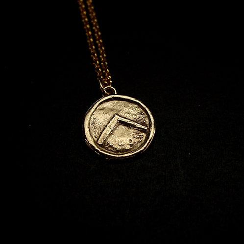 Dainty spartan shield necklace