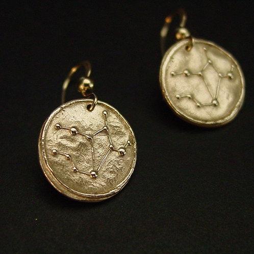 Virgo Zodiac horoscope constellation earrings
