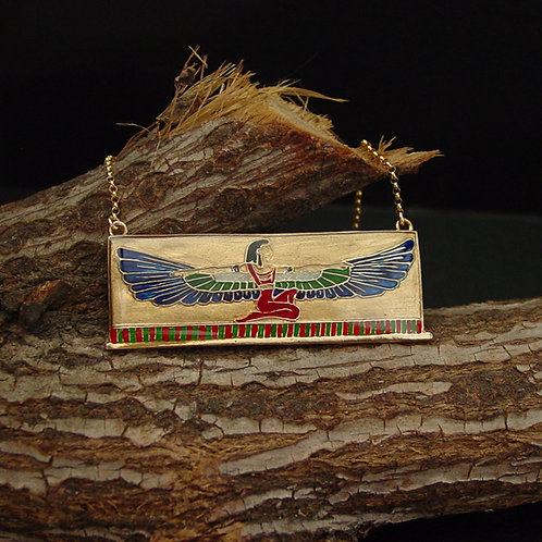 Isis necklace on branch
