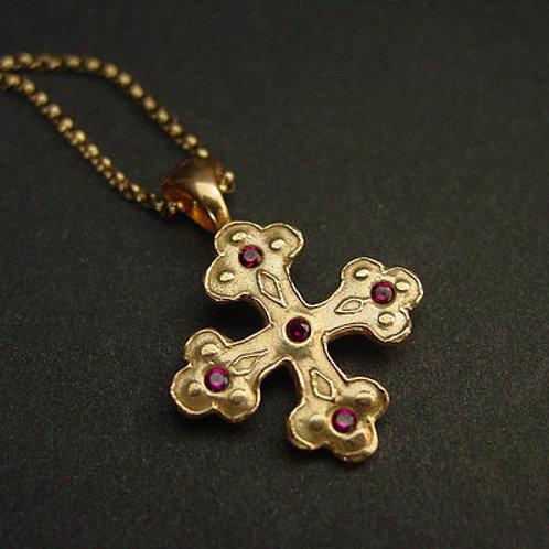 Byzantine Orthodox cross necklace
