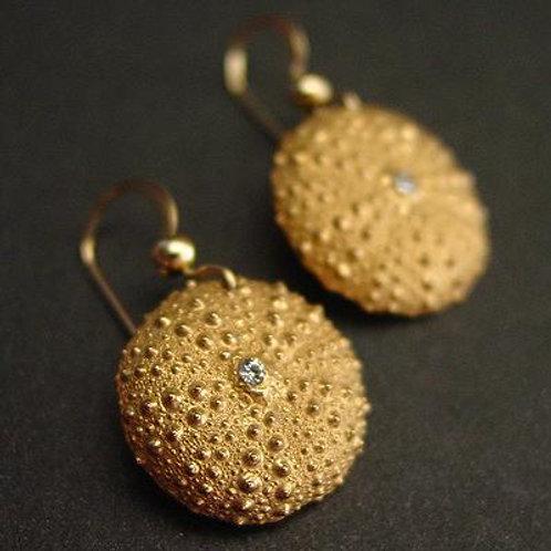 Baby sea urchin earrings