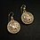 Capricorn earrings Antiqued zoom out