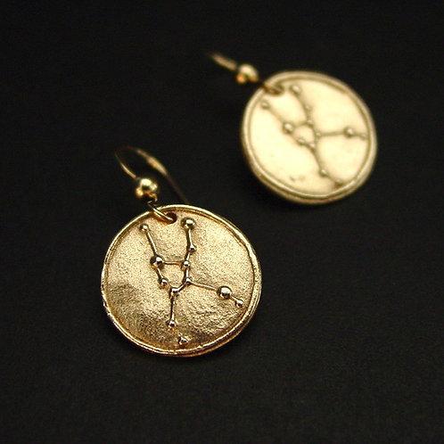 Taurus zodiac horoscope constellation earrings