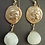 Athena Greek coin chandelier earrings with serpentine