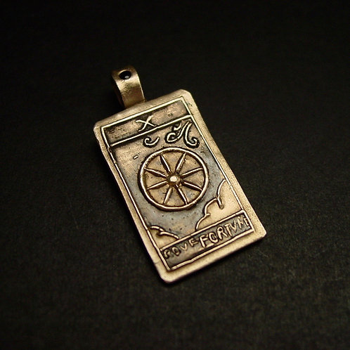 Tarot Card pendant The Wheel of Fortune