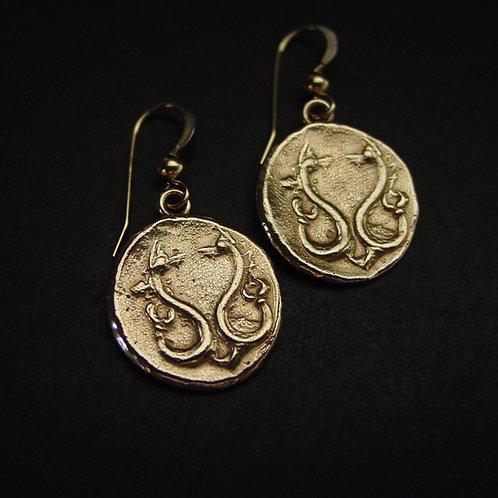 Sea Serpent Earrings