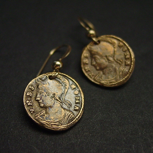 Constantine The Great coin earrings