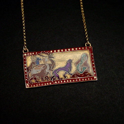 Bestiary Animals necklace