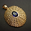 Urchin pendant with sapphire