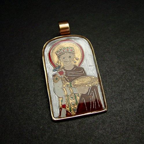 Byzantine Emperor Justinian Pendant