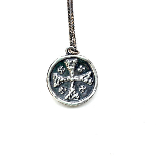 Small Jerusalem Cross - Silver necklace