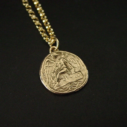 Nike | Victory Greek coin necklace