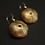 Tuxedo urchin earrings with blue sapphire