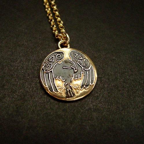 Raven necklace close up