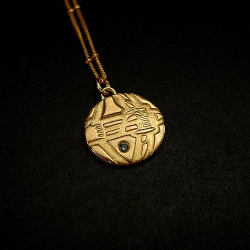 Sagittarius necklace with birthstone