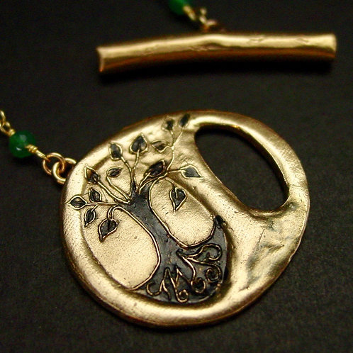 Yggdrasil front clasp necklace- open