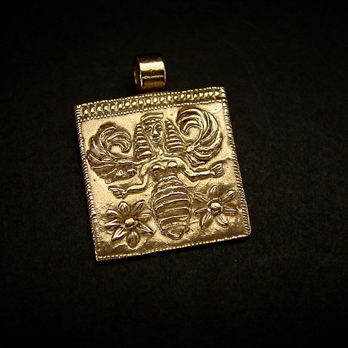 Bee goddess pendant