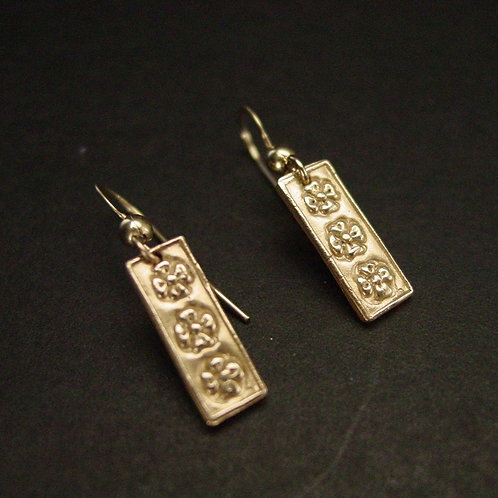 Three flowers earrings