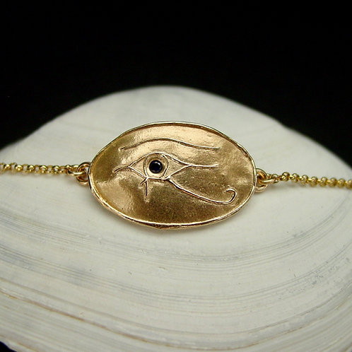 Eye of Horus bracelet on shell