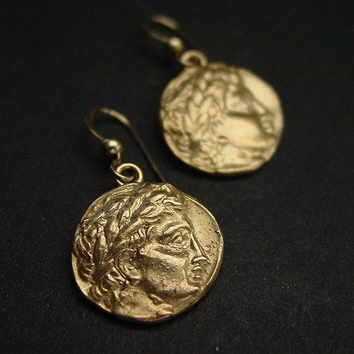 Apollo coin earrings