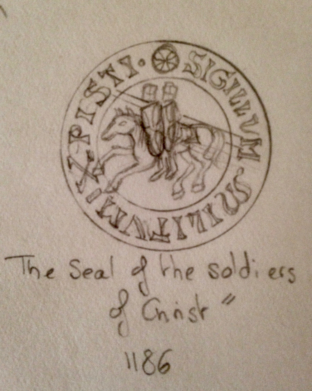 Seal of the Soldiers of Christ- Sketch by Vie