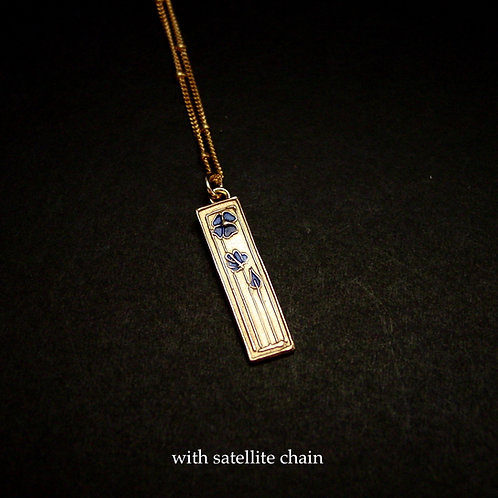 Single daisy necklace - satellite chain