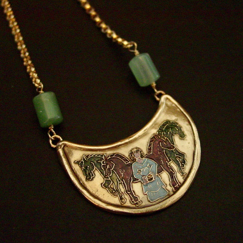 Epona rhiannon necklace vis vis jewelry by artisan french epona celtic goddess of horses necklace aloadofball Gallery
