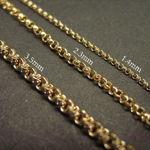Chain thickness options
