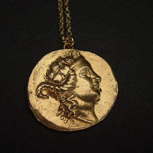 Dionysus | Bacchus coin - Necklace