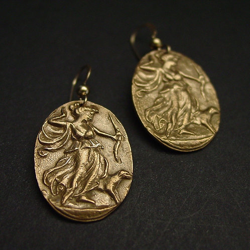 Artemis | Diana cameo earrings
